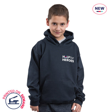Children's Navy Small Honour Logo Hoody