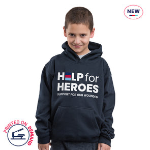 Children's Navy Honour Logo Hoody