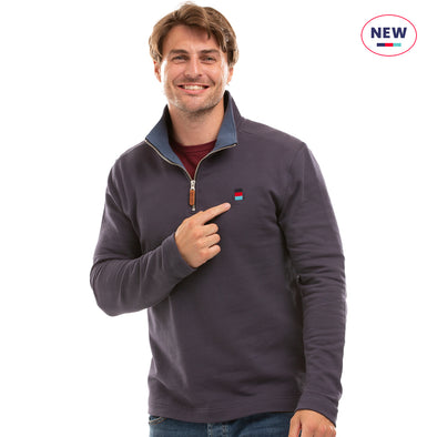 Help for Heroes Graphite Spirit Quarter Zip Sweatshirt