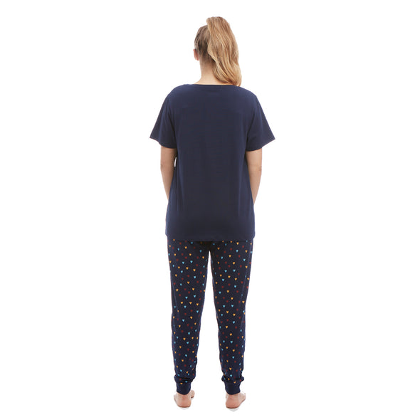 Help for Heroes Navy Jersey Heart Pyjama Set