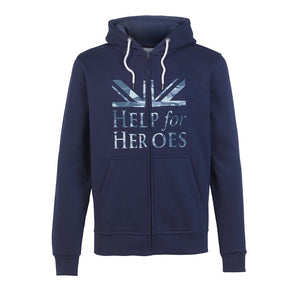Help for Heroes Navy Vigour Zipped Hoody
