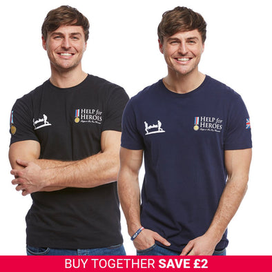 Help for Heroes Black and Navy Heritage T-Shirt Set