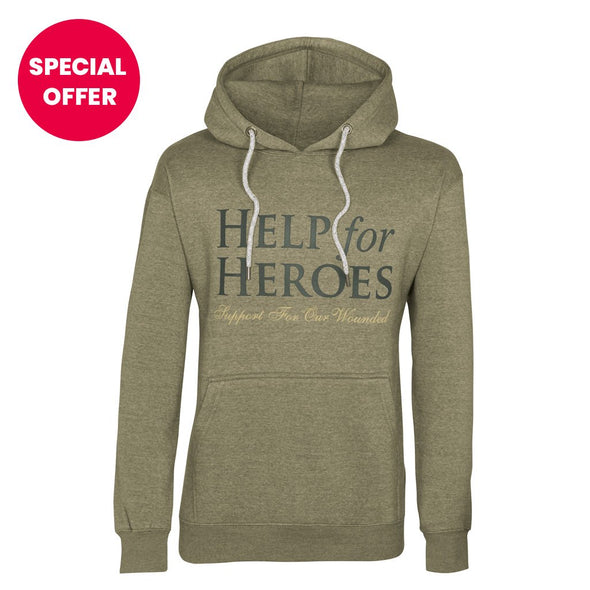Help for Heroes Olive Green Valour Hoody