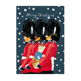 Help for Heroes line of Guardsmen in snow Christmas card