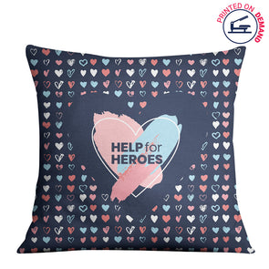 Help for Heroes Painted Hearts Cushion