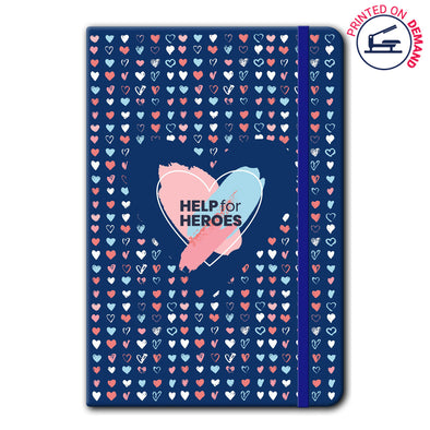 Help for Heroes Painted Hearts Notebook