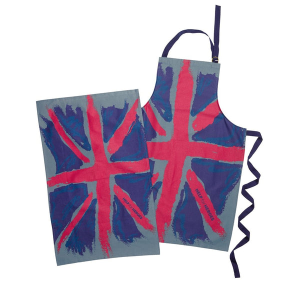 Help for Heroes Painterly Flag Apron and Tea Towel Set