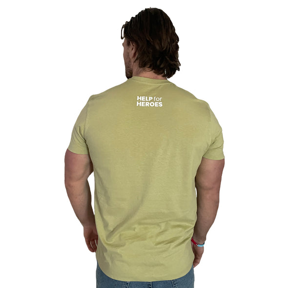 Help for Heroes Pale Olive Warrior T-Shirt
