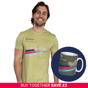 Help for Heroes Pale Olive Warrior T-Shirt and Mug