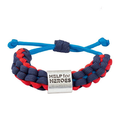 Help for Heroes Tri Colour Paracord Bracelet