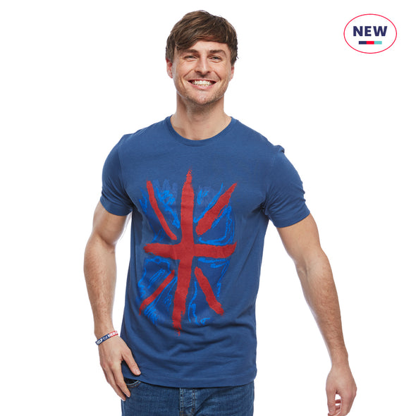 Help for Heroes Ensign Blue Patriotic Flag T-Shirt