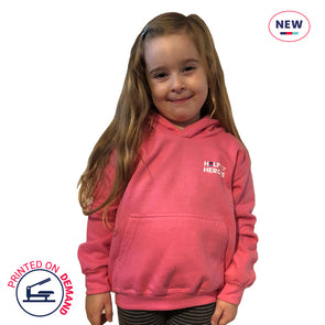 Children's Pink Small Honour Logo Hoody