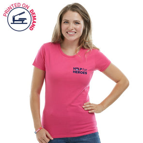 Help for Heroes Pink and Navy Honour T-Shirt