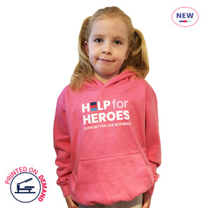 Children's Pink Honour Logo Hoody