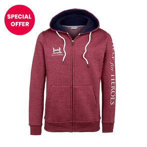 Help for Heroes Red Marl Catterick Zipped Hoody