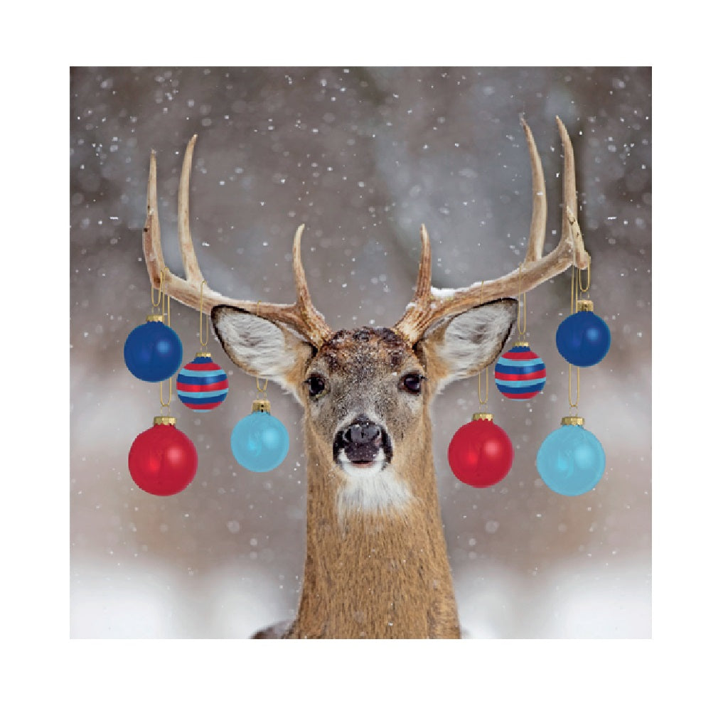 Help for Heroes Christmas Card - Reindeer with baubles