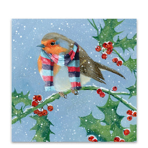 Help for Heroes Robin in Tri Scarf Christmas Cards - Pack of 10