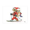 Help for Heroes Christmas Card - Skiing Bear