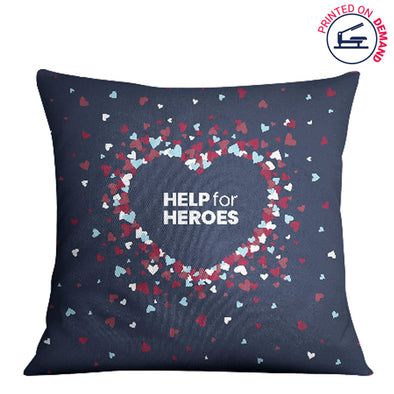 Help for Heroes Scattered Hearts Cushion