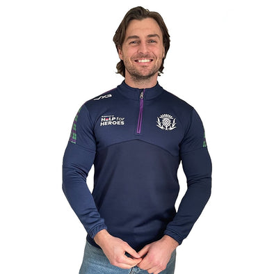 Help for Heroes Scotland Rugby Quarter Zip Sweatshirt