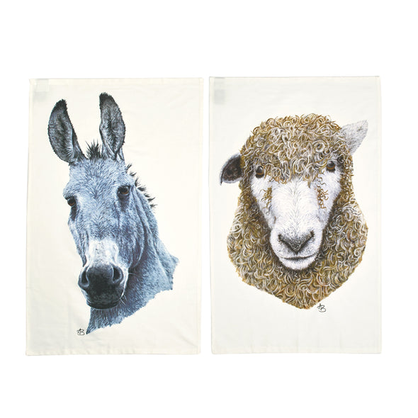 Help for Heroes Donkey and Sheep Tea Towel Set