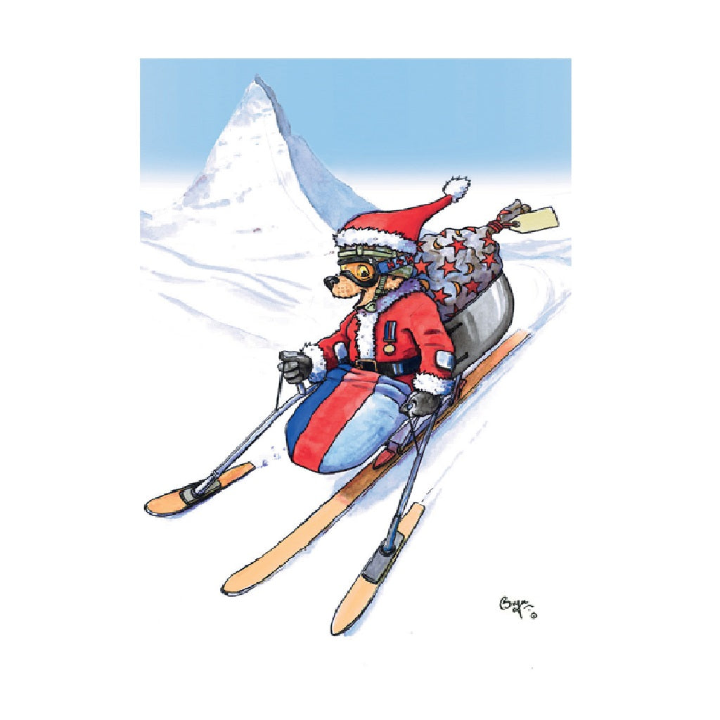 Help for Heroes Christmas Card - Sit Ski Hero Bear