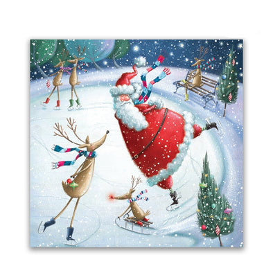 Help for Heroes Skating Santa Christmas Cards