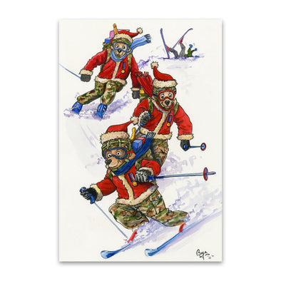Help for Heroes Bryn Parry: Skiing Bears - Pack of 10