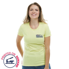 Help for Heroes Yellow and Navy Honour T-Shirt