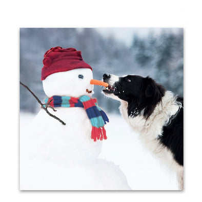 Help for Heroes Snowman and Collie Christmas Cards - Pack of 10