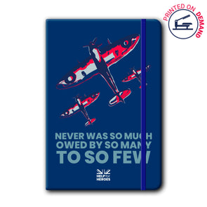 Help for Heroes So Much Owed By Spitfire Notebook