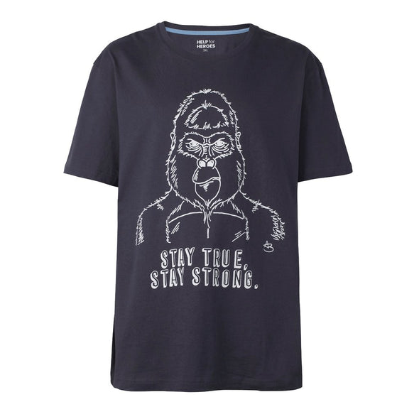 Help for Heroes Graphite Stay True, Stay Strong T-Shirt