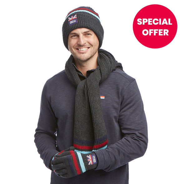 Help for Heroes Tamar Beanie, Scarf and Glove Set
