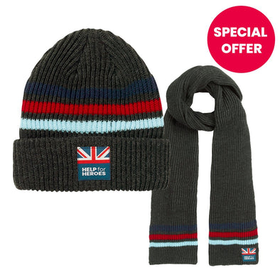 Help for Heroes Tamar Hat and Scarf Set