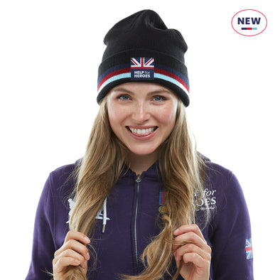Help for Heroes Black Tenacity Beanie