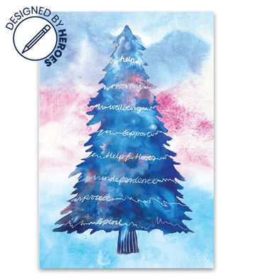 Help for Heroes The Positive-Tree Christmas Cards - Pack of 10