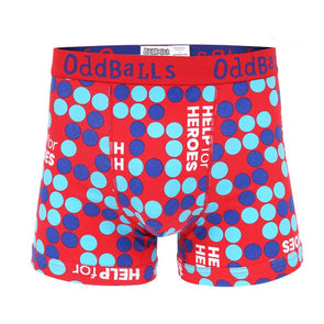 Help for Heroes Tri Colour Spots Boxer Shorts