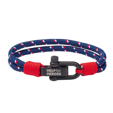 Help for Heroes Tri Colour Shackle Clasp Bracelet