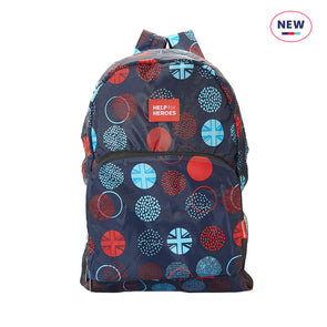 Help for Heroes Foldaway Tri Union Jack Dots Backpack