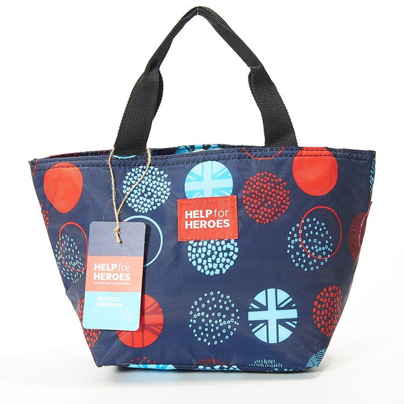 Help for Heroes Tri Union Jack Dots Reusable Lunch Bag