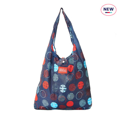 Help for Heroes Tri Union Jack Dots Reusable Shopping Bag