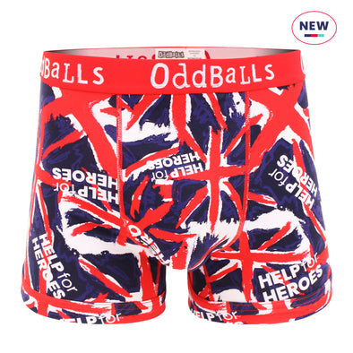 Help for Heroes Union Jack Print Boxer Shorts