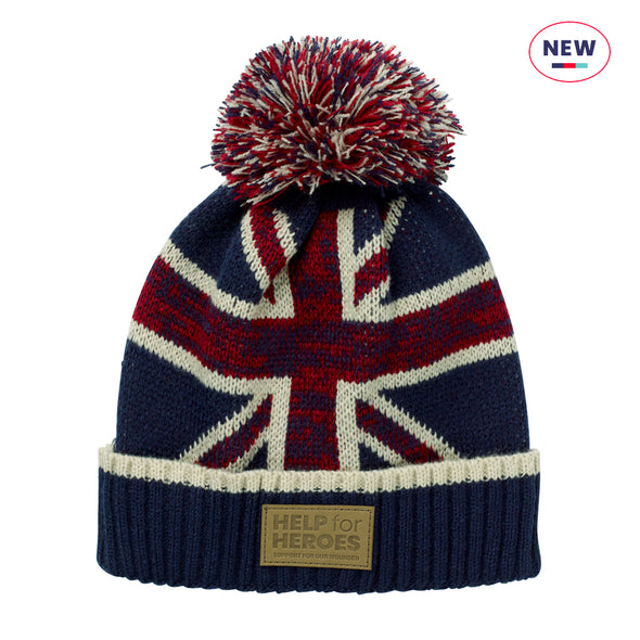 Help for Heroes Union Jack Bobble Hat