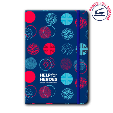 Help for Heroes Union Jack Tri Spot Notebook