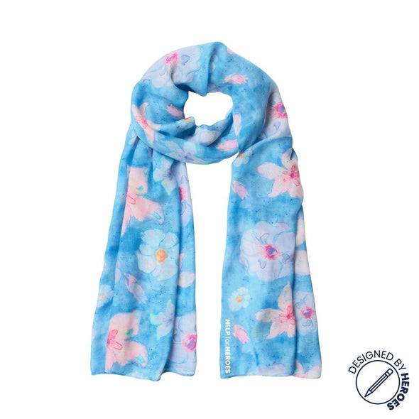 Help for Heroes Watercolour Bloom Scarf