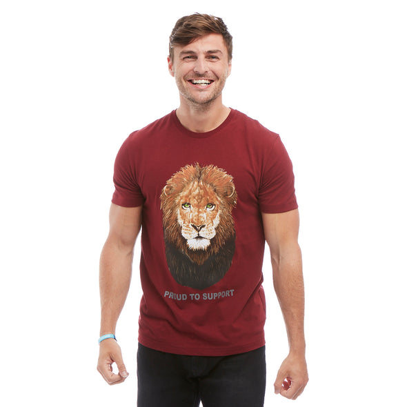 Help for Heroes Windsor Wine Lion Pride T-Shirt