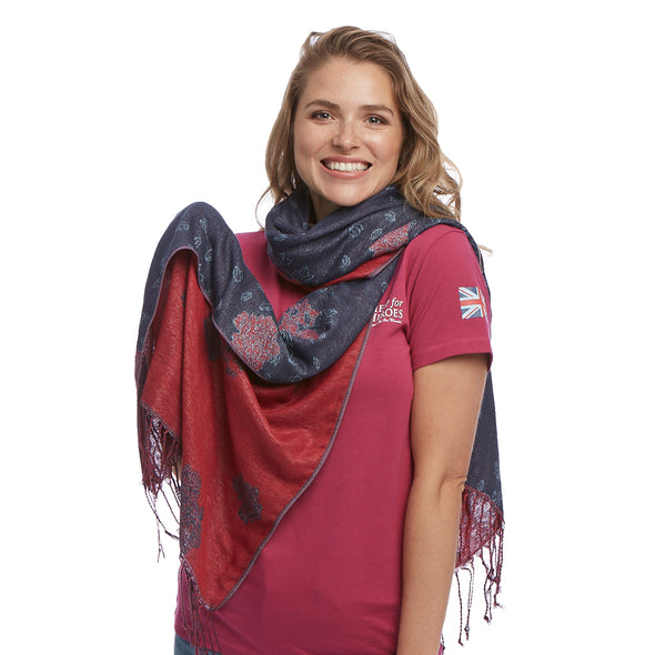 Help for Heroes Winter Petals Scarf