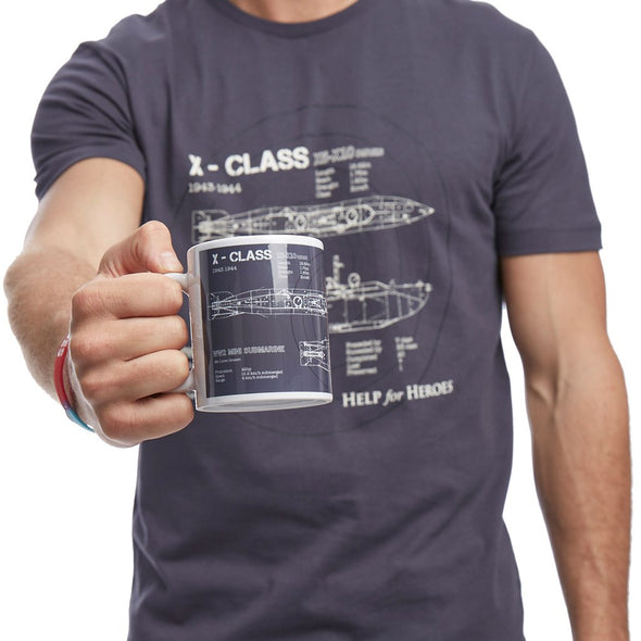 Help for Heroes Graphite X Class Mug and T-Shirt Set