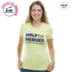 Help for Heroes Yellow Honour Logo T-Shirt