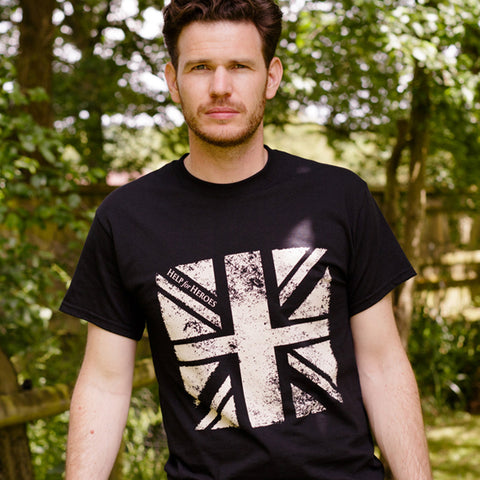 Help for Heroes Black Plymouth flag T-shirt